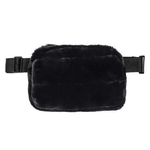 Belt bag - Minx black (faux fur)